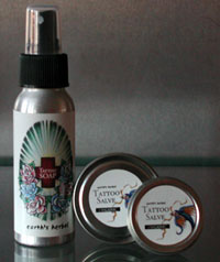 Earth's Herbal Tattoo Salve and Soap